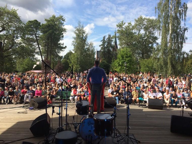 Jonas Sjöstedt sommartalar i Umeå.